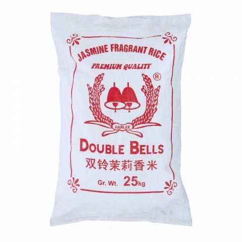 Double Bell (New Crop) Jasmine Rice 25KG