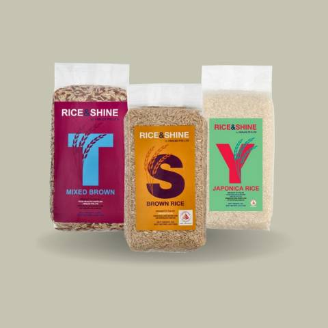 COOK Taster set (3 x 1kg) - a month's worth of rice grains (small household)